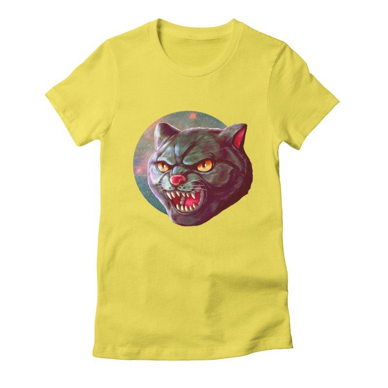 Space Cat Women's Fitted T-Shirt by villainmazk's Artist Shop