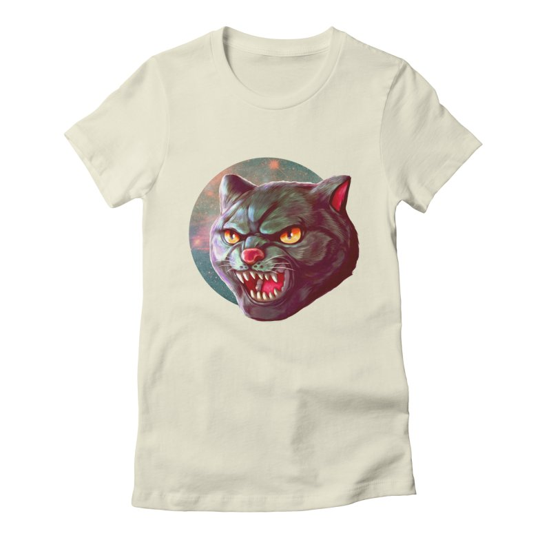 Space Cat Women's Fitted T-Shirt by villainmazk's Artist Shop