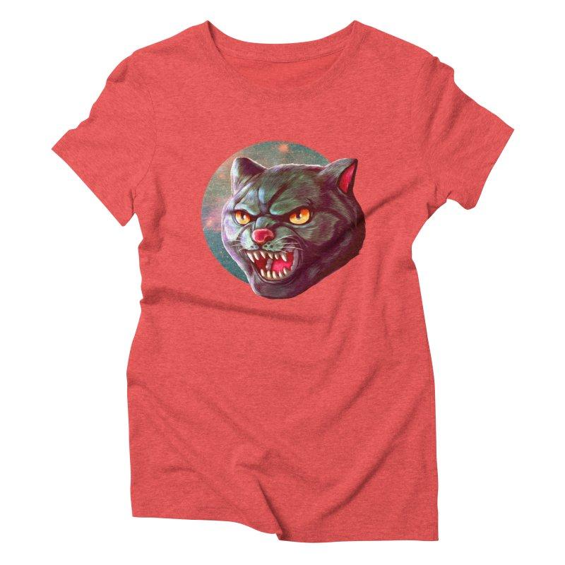 Space Cat Women's Triblend T-Shirt by villainmazk's Artist Shop