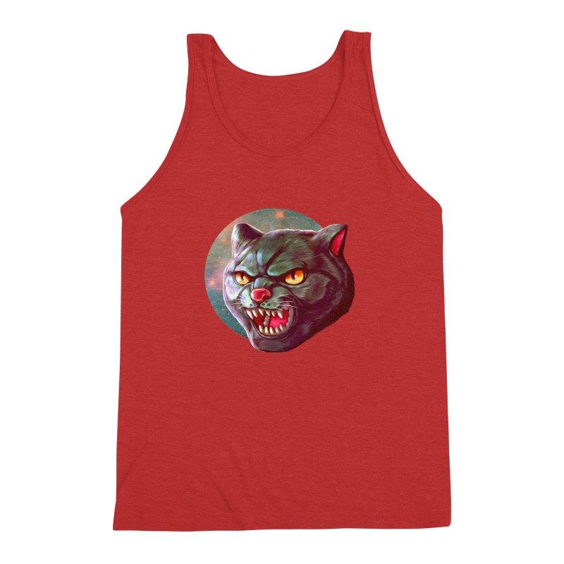 Space Cat Men's Triblend Tank by villainmazk's Artist Shop