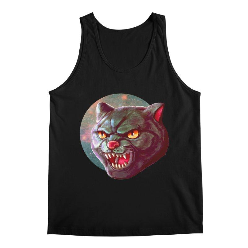Space Cat Men's Regular Tank by villainmazk's Artist Shop