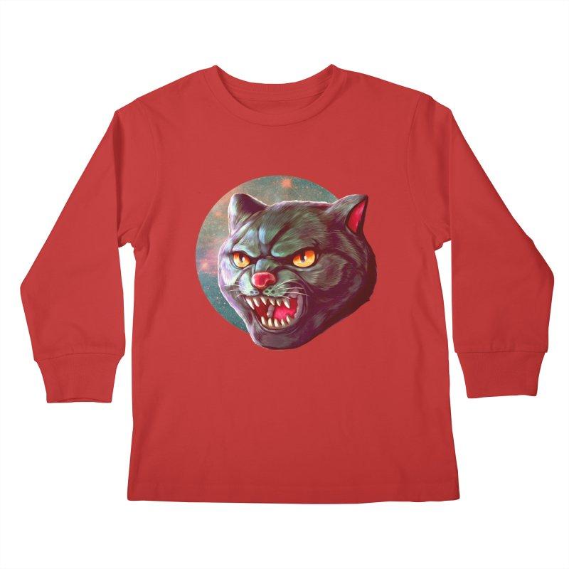 Space Cat Kids Longsleeve T-Shirt by villainmazk's Artist Shop