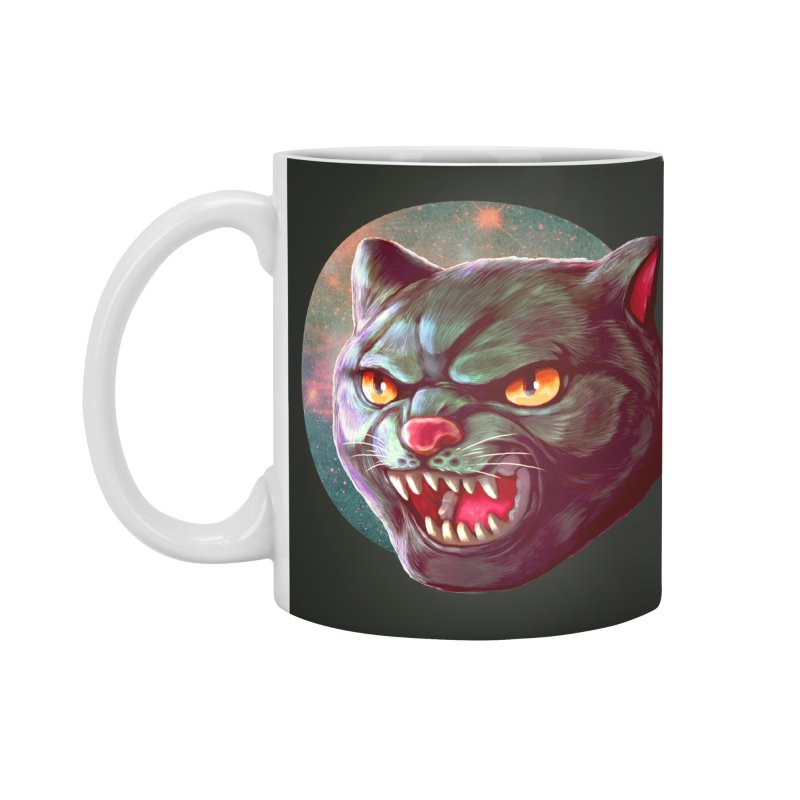 Space Cat Accessories Mug by villainmazk's Artist Shop