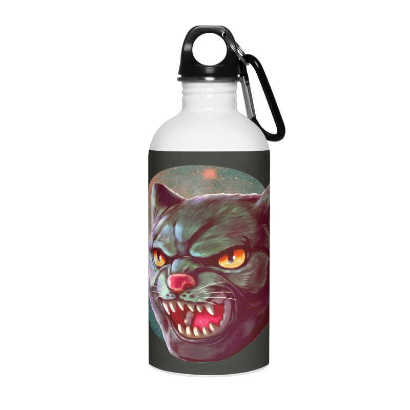 Space Cat Accessories Water Bottle by villainmazk's Artist Shop