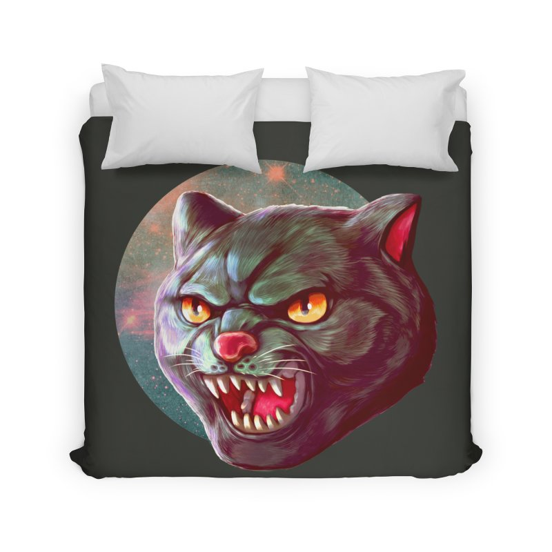 Space Cat Home Duvet by villainmazk's Artist Shop
