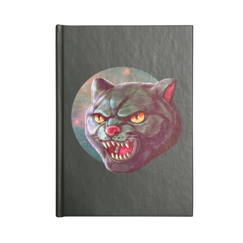 Space Cat Accessories Lined Journal Notebook by villainmazk's Artist Shop