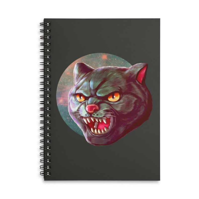 Space Cat Accessories Lined Spiral Notebook by villainmazk's Artist Shop