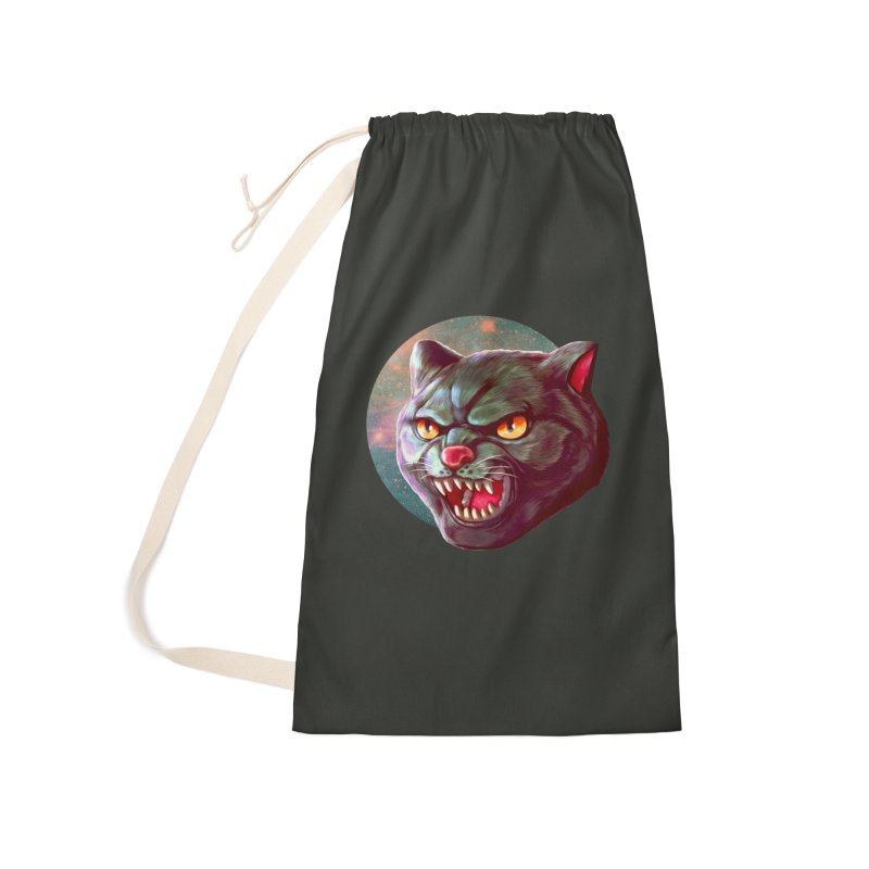 Space Cat Accessories Laundry Bag Bag by villainmazk's Artist Shop