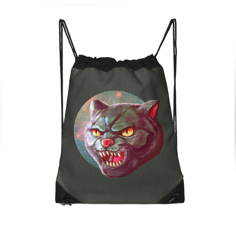 Space Cat Accessories Drawstring Bag Bag by villainmazk's Artist Shop