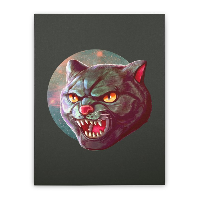 Space Cat Home Stretched Canvas by villainmazk's Artist Shop