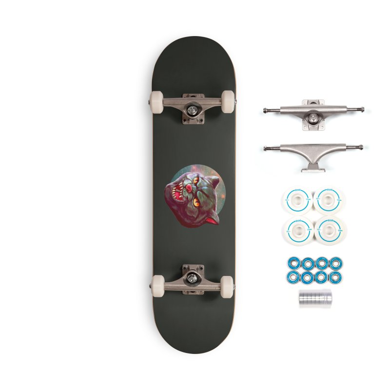 Space Cat Accessories Complete - Basic Skateboard by villainmazk's Artist Shop