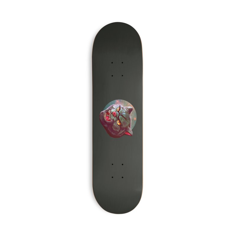 Space Cat Accessories Deck Only Skateboard by villainmazk's Artist Shop