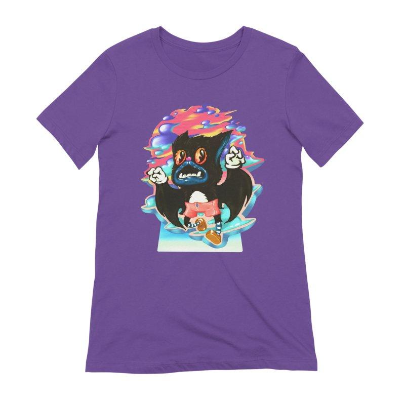 BatBoy sky Women's Extra Soft T-Shirt by villainmazk's Artist Shop