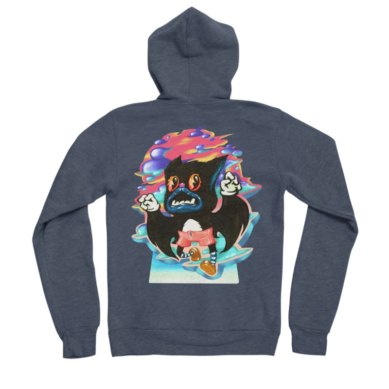 BatBoy sky Men's Sponge Fleece Zip-Up Hoody by villainmazk's Artist Shop