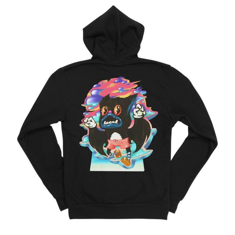 BatBoy sky Women's Sponge Fleece Zip-Up Hoody by villainmazk's Artist Shop