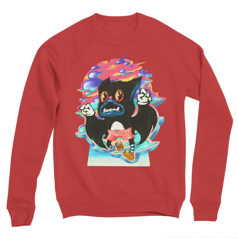 BatBoy sky Women's Sponge Fleece Sweatshirt by villainmazk's Artist Shop