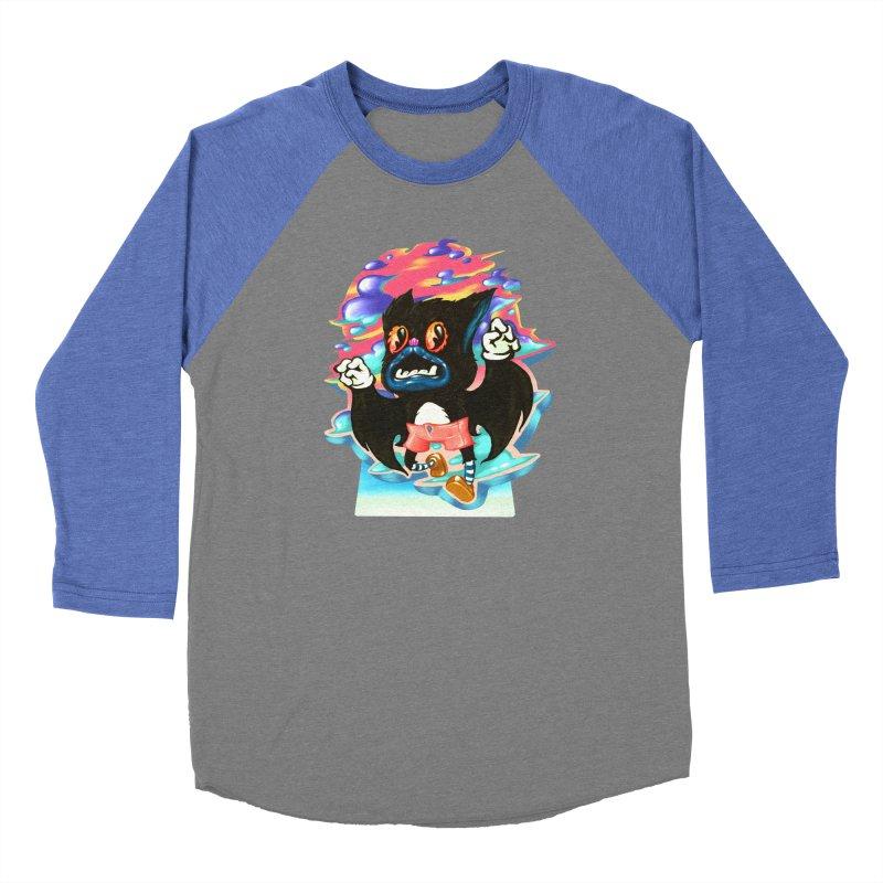 BatBoy sky Men's Baseball Triblend Longsleeve T-Shirt by villainmazk's Artist Shop