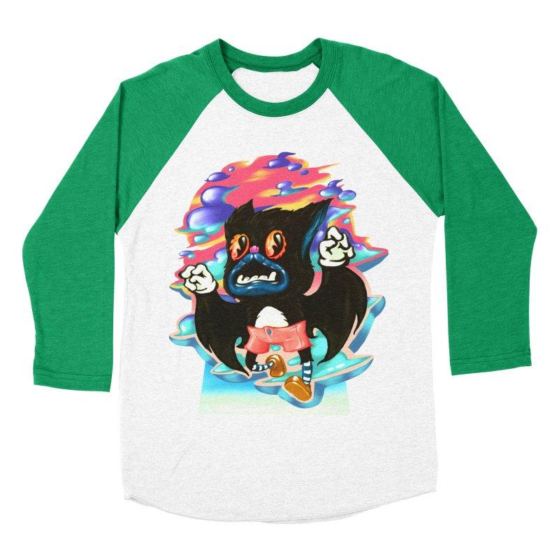 BatBoy sky Women's Baseball Triblend Longsleeve T-Shirt by villainmazk's Artist Shop
