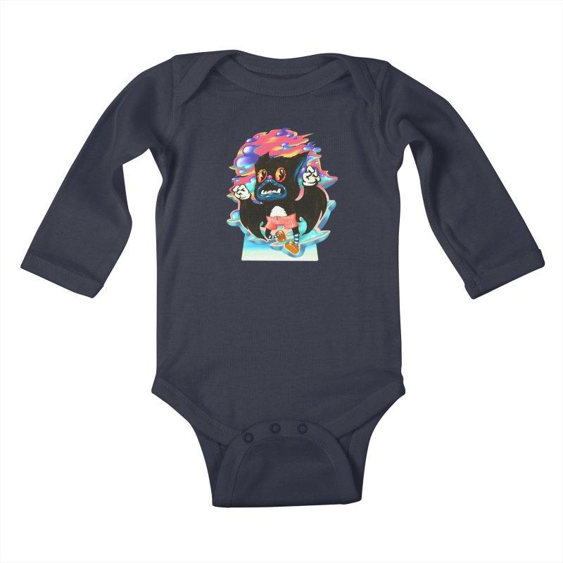 BatBoy sky Kids Baby Longsleeve Bodysuit by villainmazk's Artist Shop