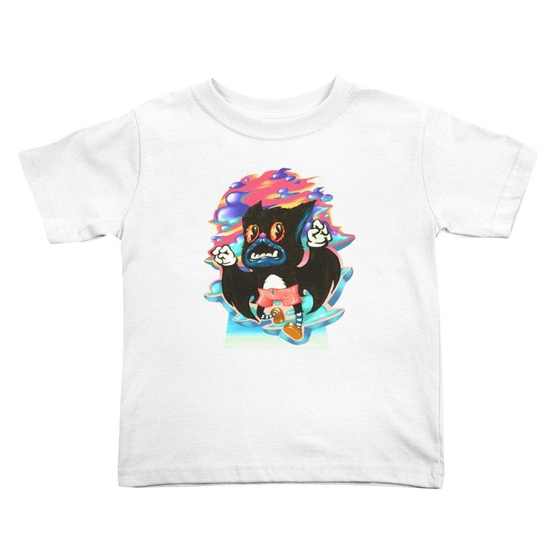 BatBoy sky Kids Toddler T-Shirt by villainmazk's Artist Shop