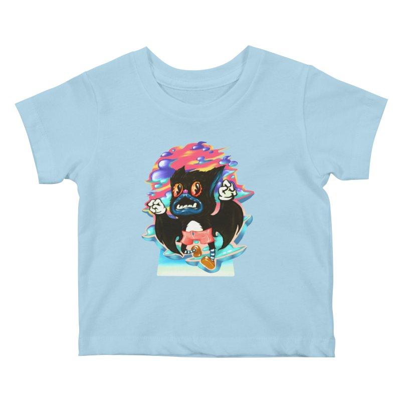 BatBoy sky Kids Baby T-Shirt by villainmazk's Artist Shop