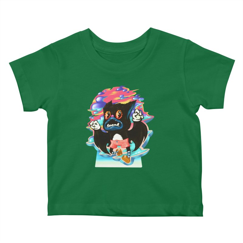 BatBoy sky Kids Baby T-Shirt by villainmazk's Artist Shop