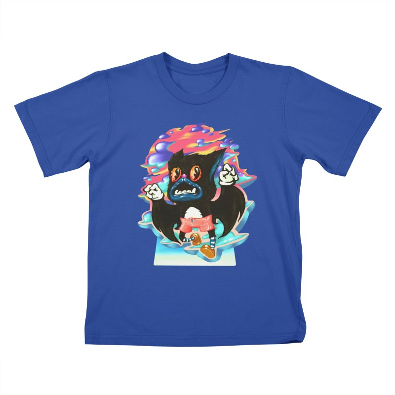 BatBoy sky Kids T-Shirt by villainmazk's Artist Shop