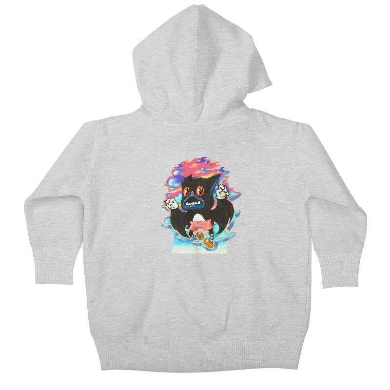 BatBoy sky Kids Baby Zip-Up Hoody by villainmazk's Artist Shop