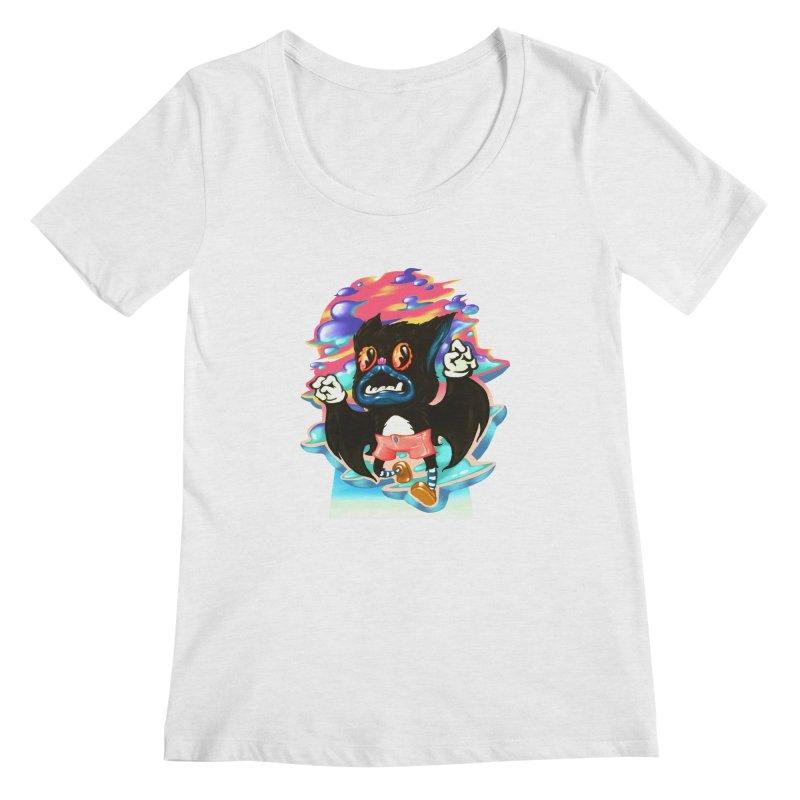 BatBoy sky Women's Regular Scoop Neck by villainmazk's Artist Shop