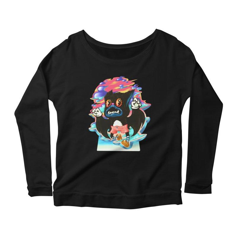 BatBoy sky Women's Scoop Neck Longsleeve T-Shirt by villainmazk's Artist Shop