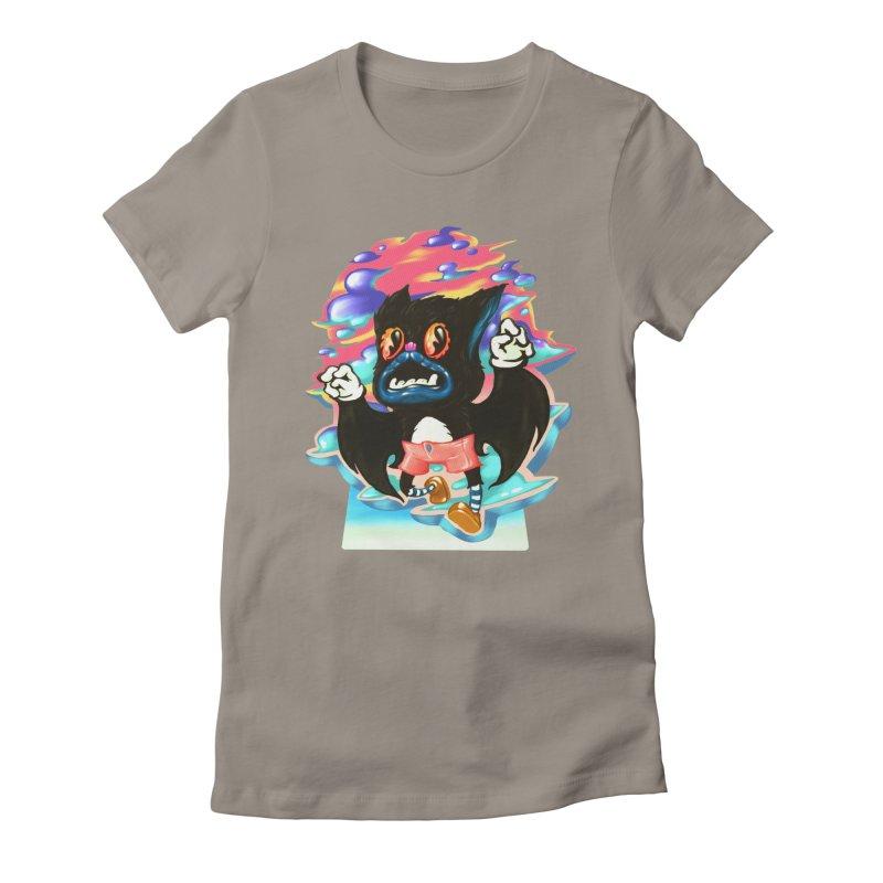 BatBoy sky Women's Fitted T-Shirt by villainmazk's Artist Shop