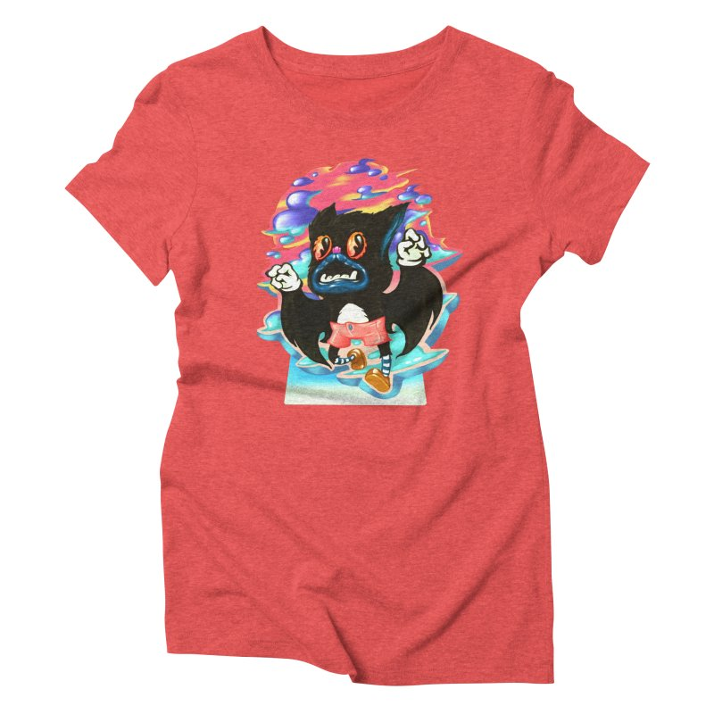 BatBoy sky Women's Triblend T-Shirt by villainmazk's Artist Shop