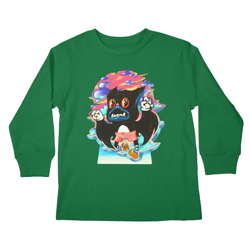 BatBoy sky Kids Longsleeve T-Shirt by villainmazk's Artist Shop