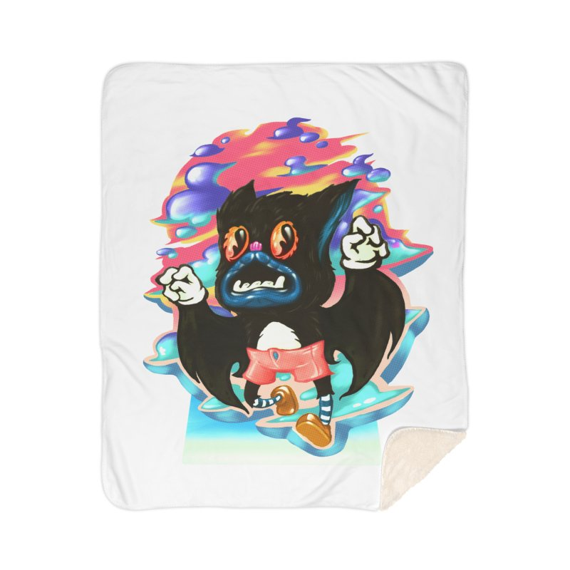 BatBoy sky Home Sherpa Blanket Blanket by villainmazk's Artist Shop