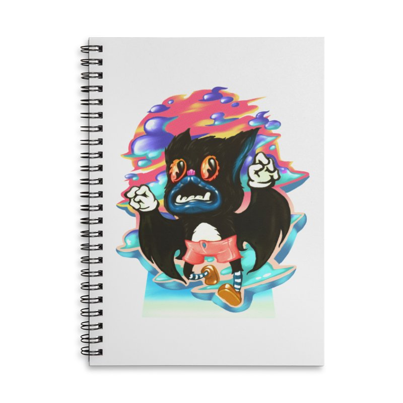 BatBoy sky Accessories Lined Spiral Notebook by villainmazk's Artist Shop