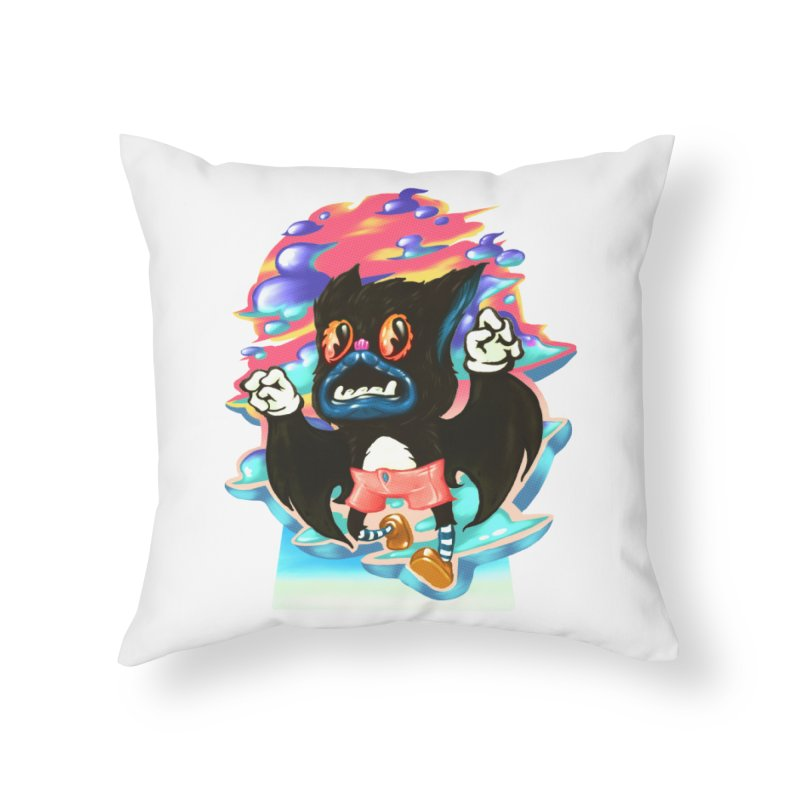BatBoy sky Home Throw Pillow by villainmazk's Artist Shop