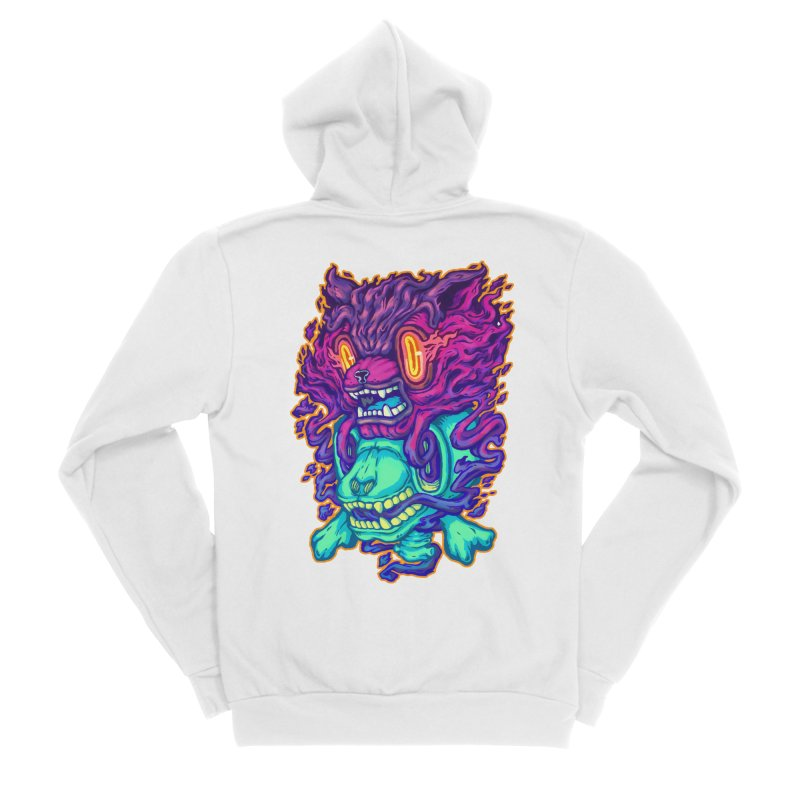 The Ghost cat Men's Zip-Up Hoody by villainmazk's Artist Shop