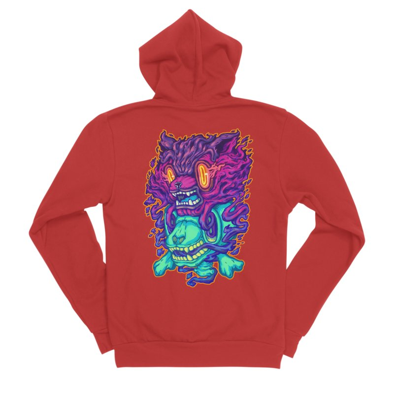 The Ghost cat Women's Sponge Fleece Zip-Up Hoody by villainmazk's Artist Shop