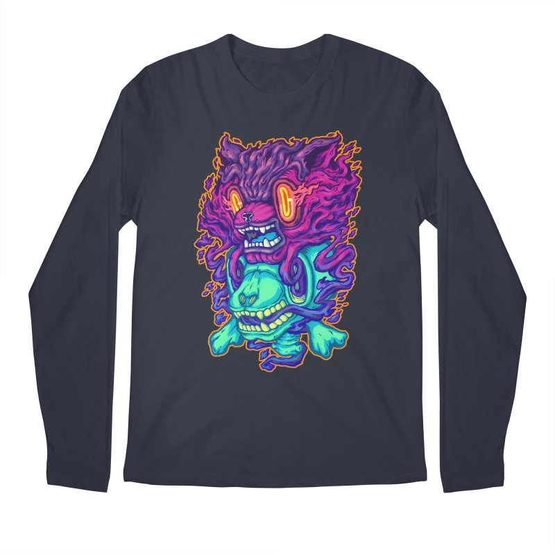 The Ghost cat Men's Longsleeve T-Shirt by villainmazk's Artist Shop