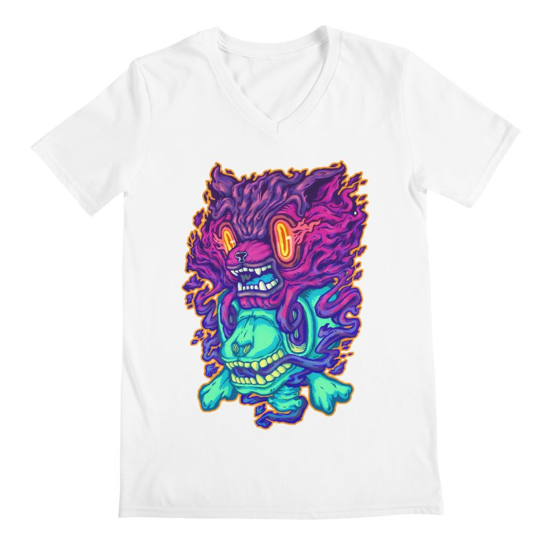 The Ghost cat Men's V-Neck by villainmazk's Artist Shop