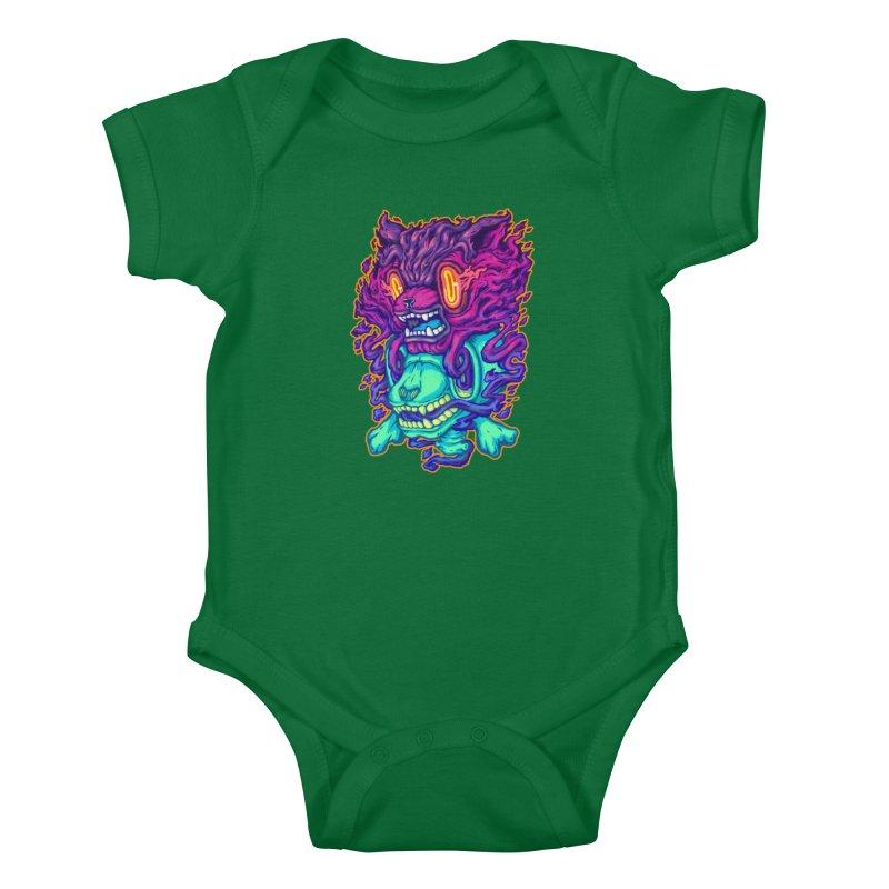 The Ghost cat Kids Baby Bodysuit by villainmazk's Artist Shop