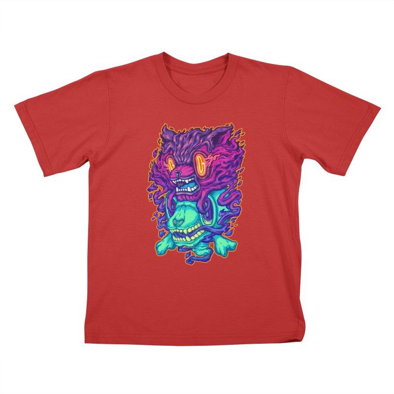 The Ghost cat Kids T-Shirt by villainmazk's Artist Shop