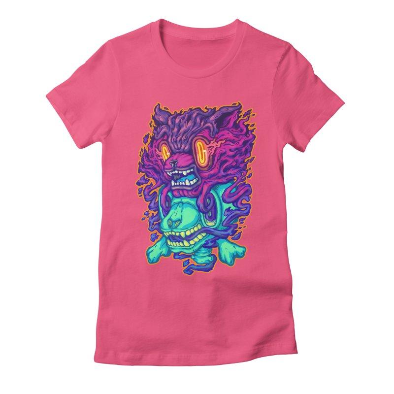 The Ghost cat Women's T-Shirt by villainmazk's Artist Shop
