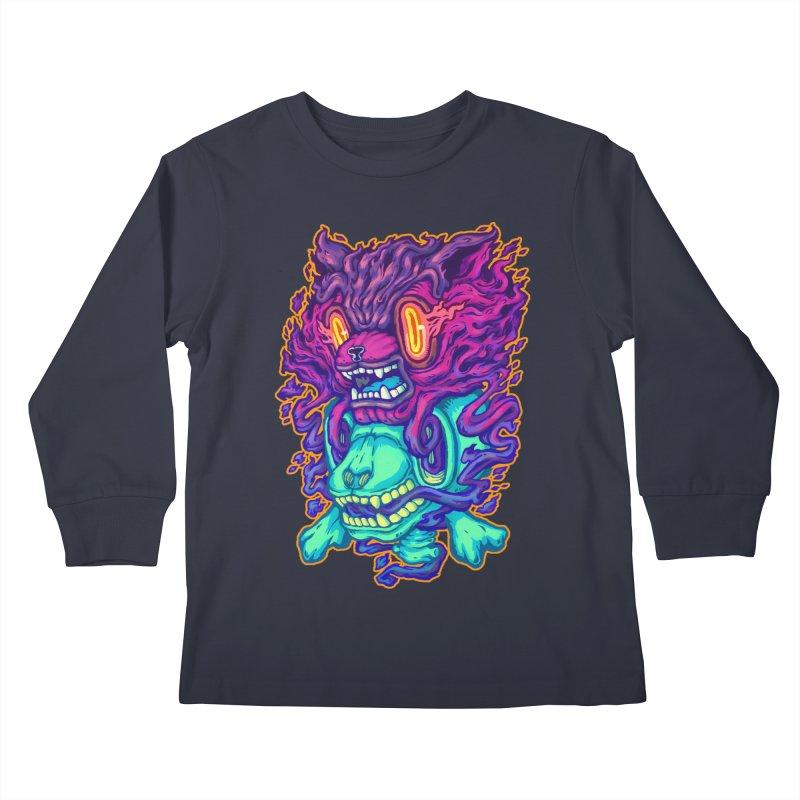 The Ghost cat Kids Longsleeve T-Shirt by villainmazk's Artist Shop