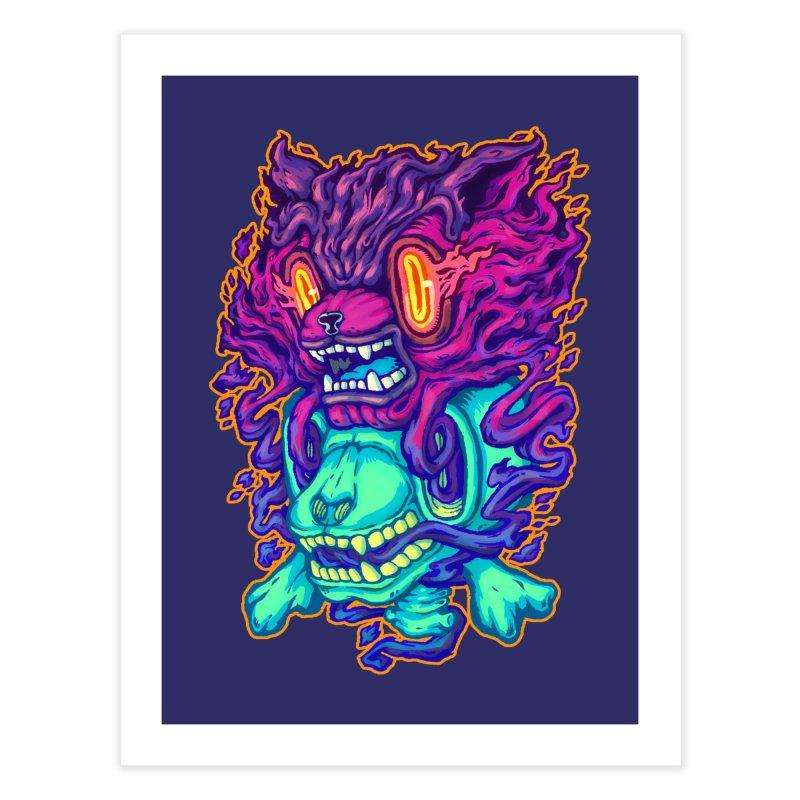 The Ghost cat Home Fine Art Print by villainmazk's Artist Shop