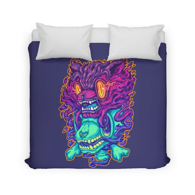 The Ghost cat Home Duvet by villainmazk's Artist Shop