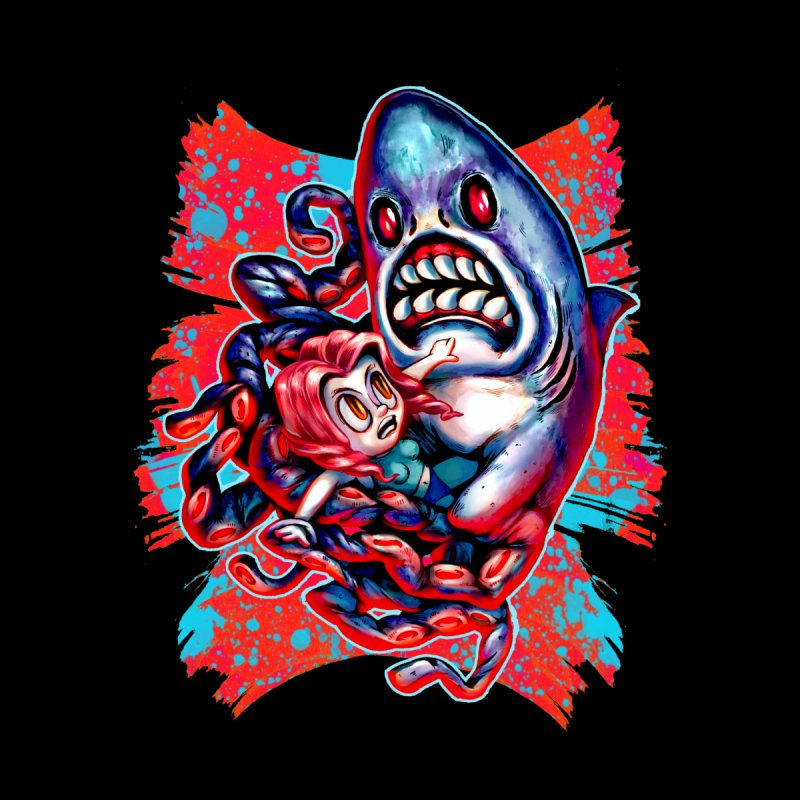 Sharktopus Attack! Kids T-Shirt by villainmazk's Artist Shop
