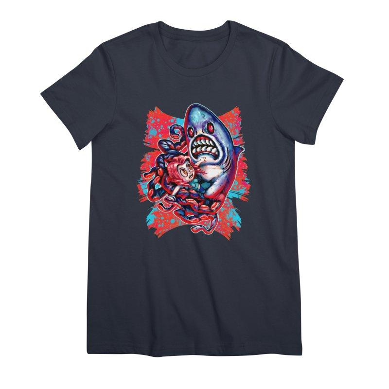 Sharktopus Attack! Women's Premium T-Shirt by villainmazk's Artist Shop