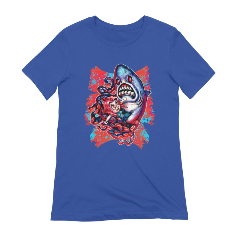 Sharktopus Attack! Women's Extra Soft T-Shirt by villainmazk's Artist Shop