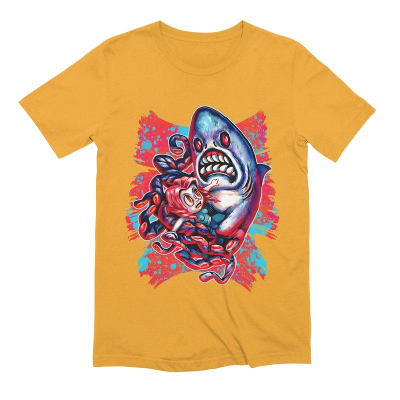 Sharktopus Attack! Men's Extra Soft T-Shirt by villainmazk's Artist Shop